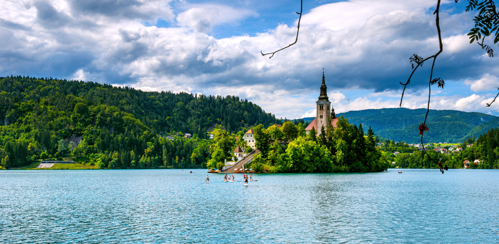 Church of the Assumption, Bled Island,Lake Bled,Radovljica ,Slovenia